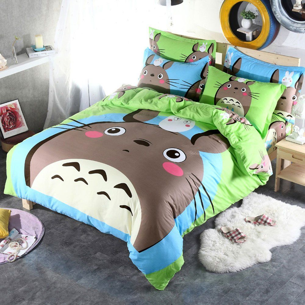 My Neighbor Totoro Bed Set Shutupandtakemyyen Totoro Myneighbortotoro Studioghibli Anime Merch Merc Kids Bedding Sets Boys Bedding Sets Duvet Cover Sets