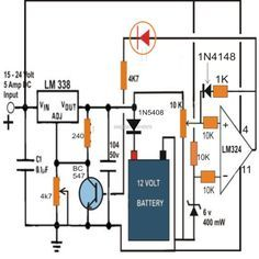 simple 12 volt battery charger circuits Google Search