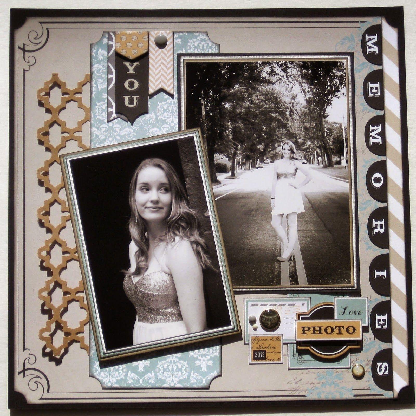Scrapbook ideas multiple pictures - Teresa Collins Multiple Scrapbook Layouts