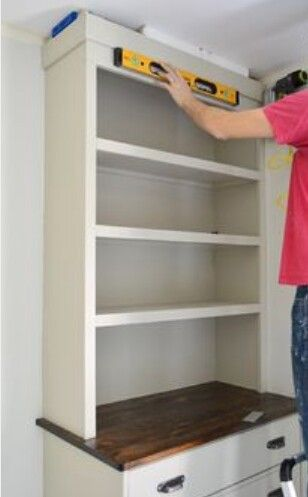 Closet 4 Dresser Below Shelves On Top W Side Walls The With Of