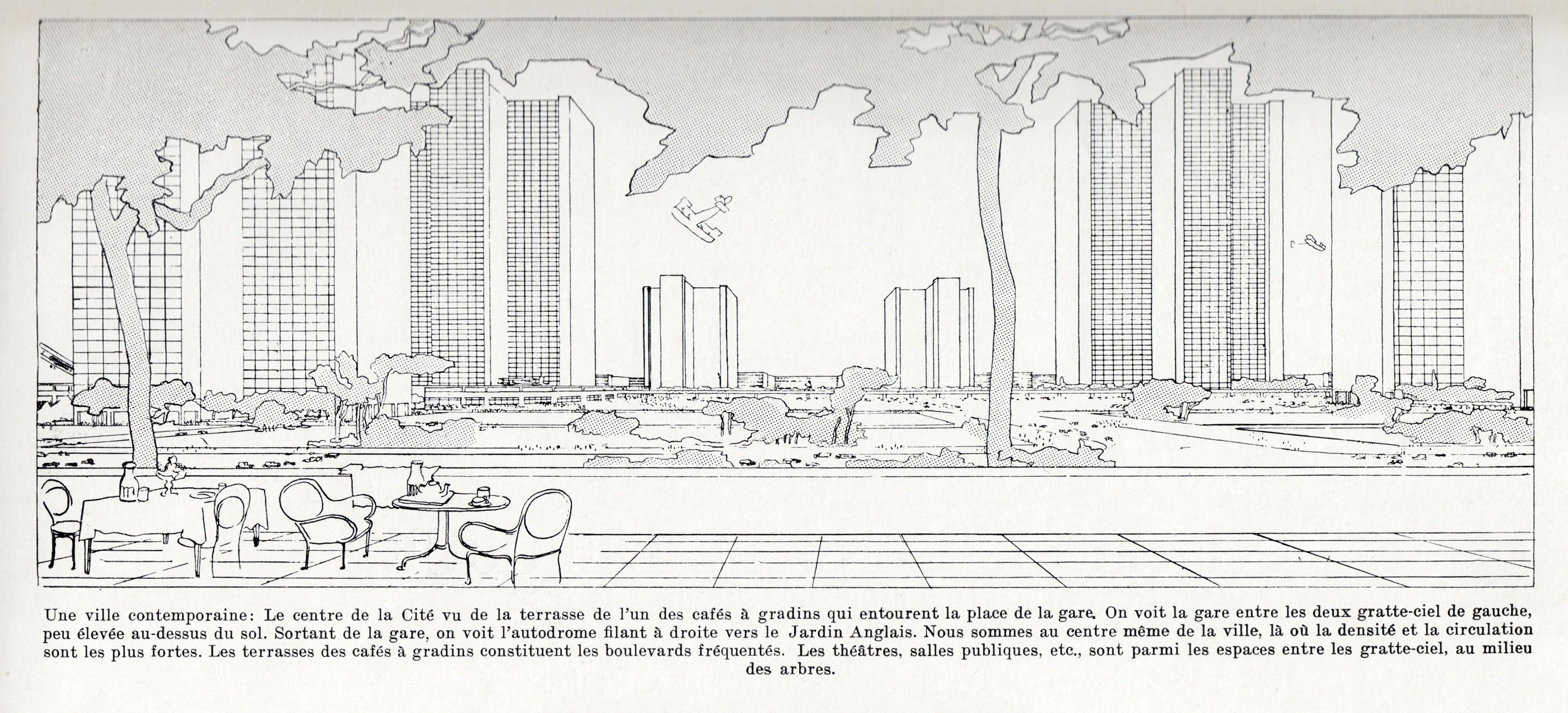 Le corbusier progetto per une ville contemporaine cerca for Piscine contemporaine