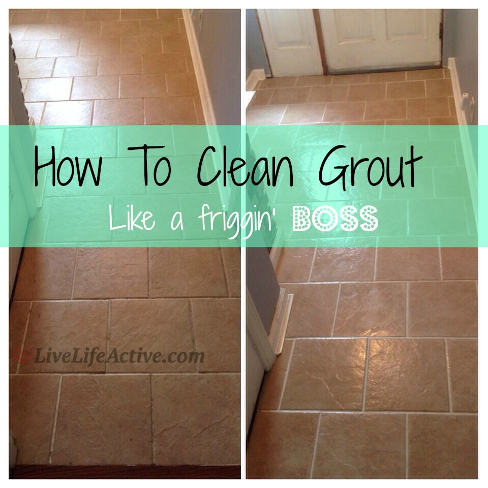 My Favorite Way To Clean Grout By Livelifeactive Diy