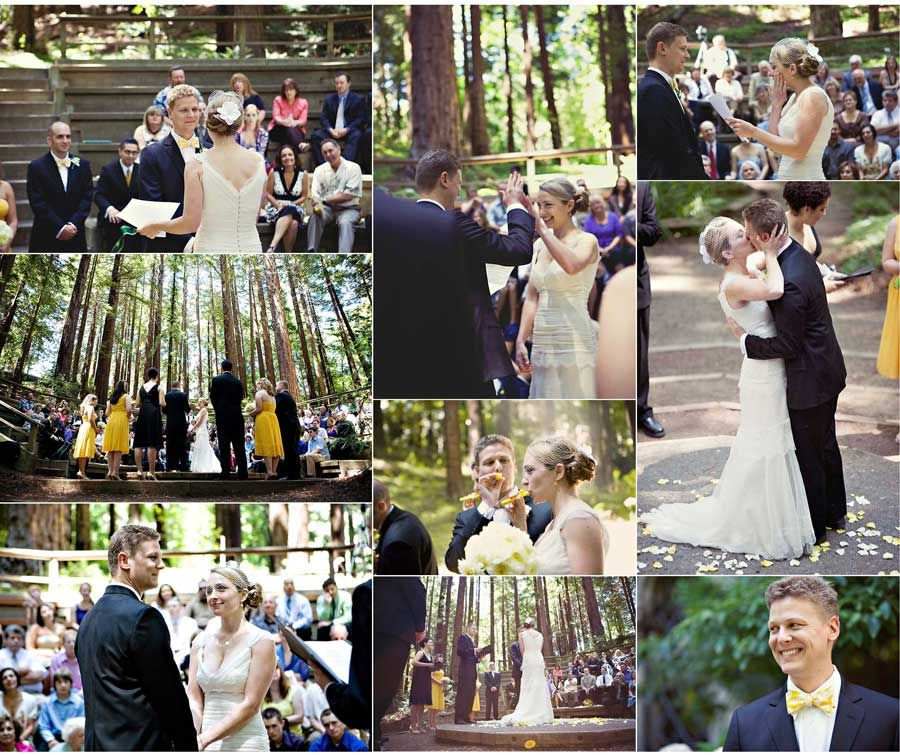Congratulations Nat and Wes! What a lovely ceremony you had at the UC Botanical Garden.