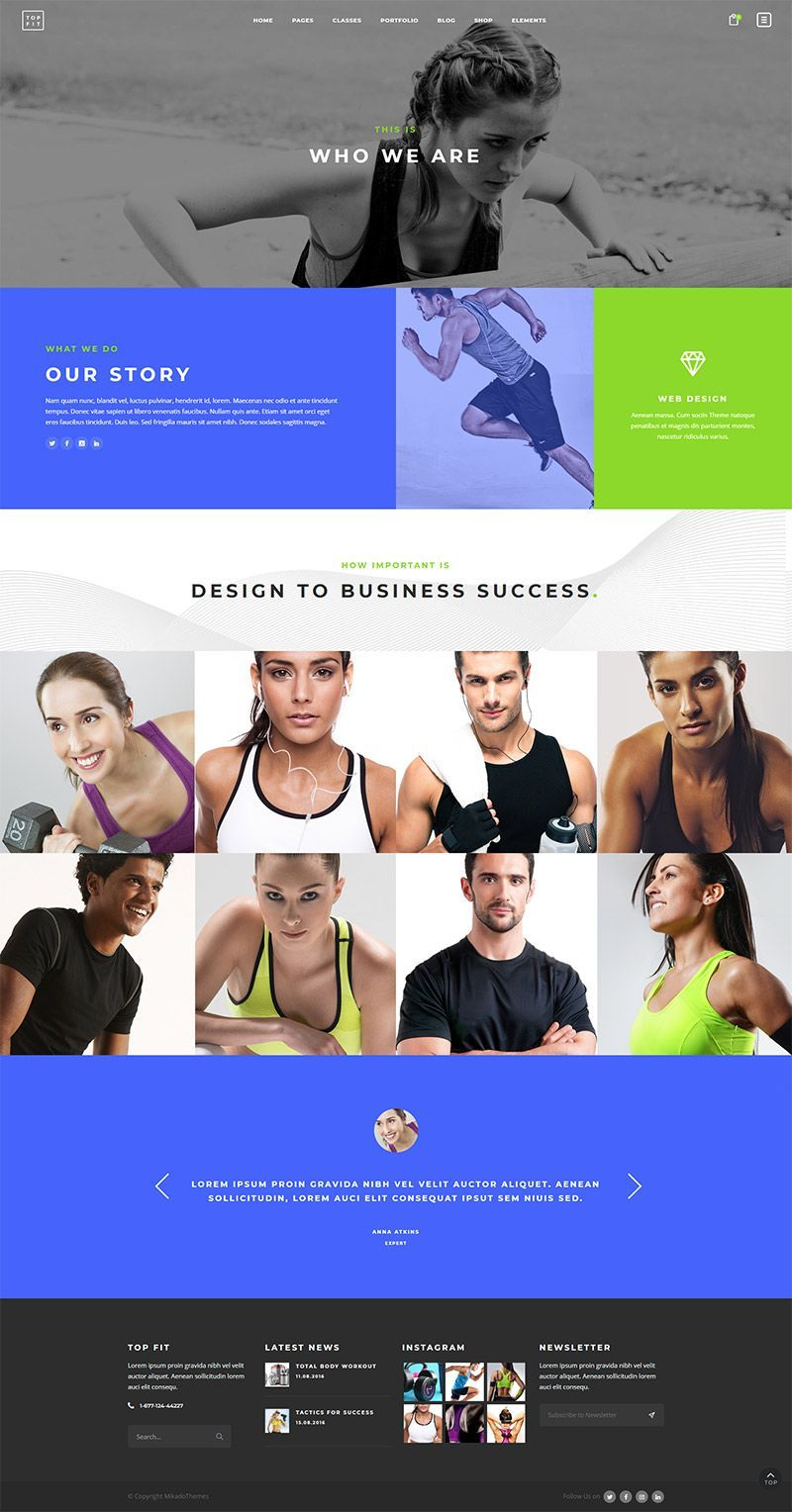 TopFit Fitness and Gym Theme Sports graphic design