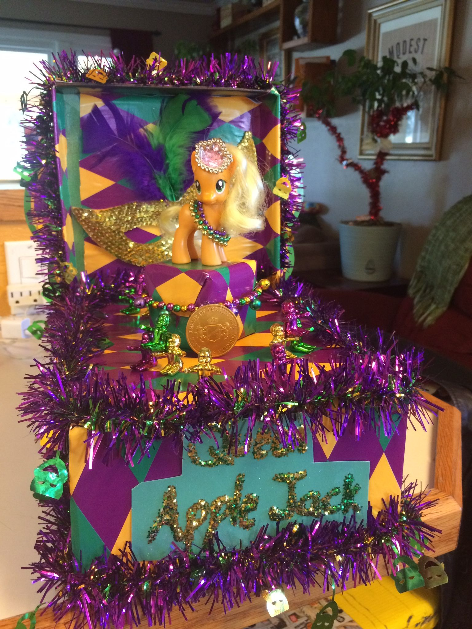 My First Mardi Gras Shoebox Float With Adeline S Special