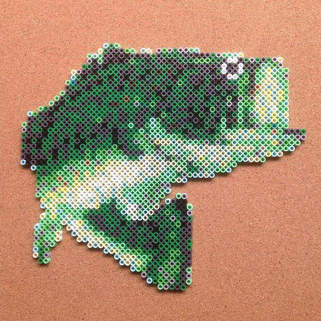 Fish perler beads by Tsubasa Yamashita