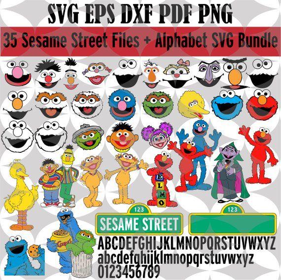 35 Sesame Street & alphabet SVG, Sesame Street Svg, Elmo