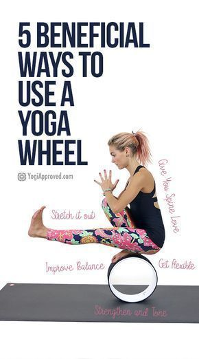 Yoga Wheel Tutorial: Here Are 5 Ways to Use a Yoga Wheel (Photos)