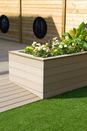 Diy Planter Flower Box With Synthetic Boards Build A Planter Flower Box Using Wpc Boards Composite Garden Flower Diy Planters Deck Planters Diy Flower Boxes