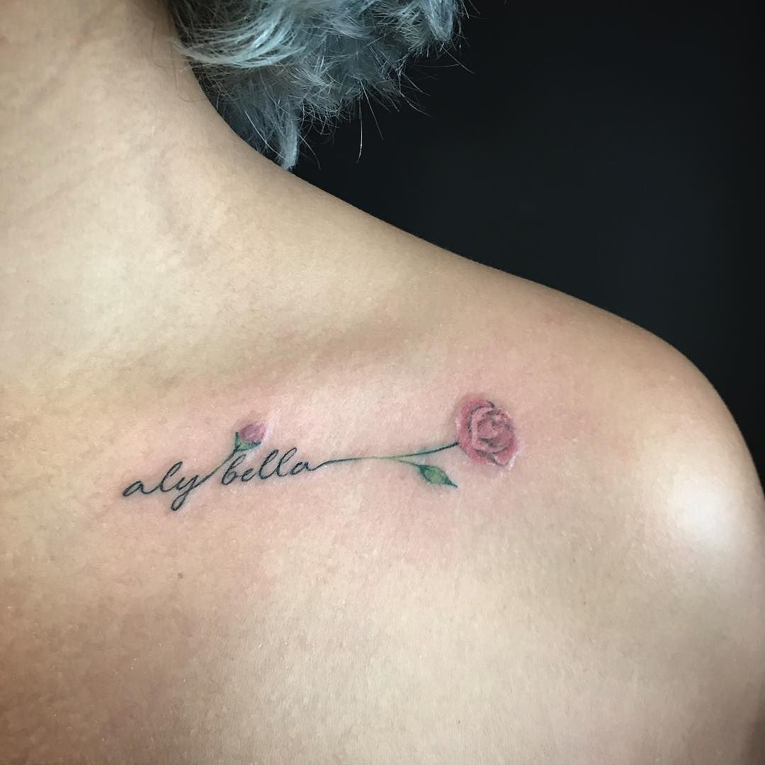 Very soft and gentle tattoo on a collar bone tattoo for Still breathing tattoo