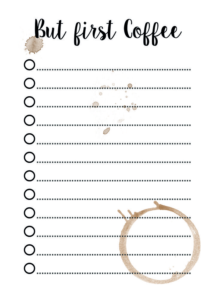 DIYtiful: Free Printable But first Coffee To-Do-Liste | Filo ...