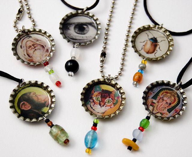 Bottle Cap Necklaces | Bottle cap jewelry, Bottle cap art, Bottle cap  necklace