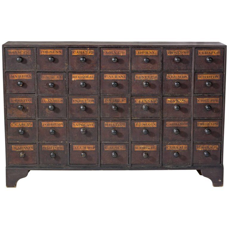 Antique Mahogany Apothecary Cabinet / Bank of Drawers, circa 1875 For Sale - Antique Mahogany Apothecary Cabinet / Bank Of Drawers, Circa 1875