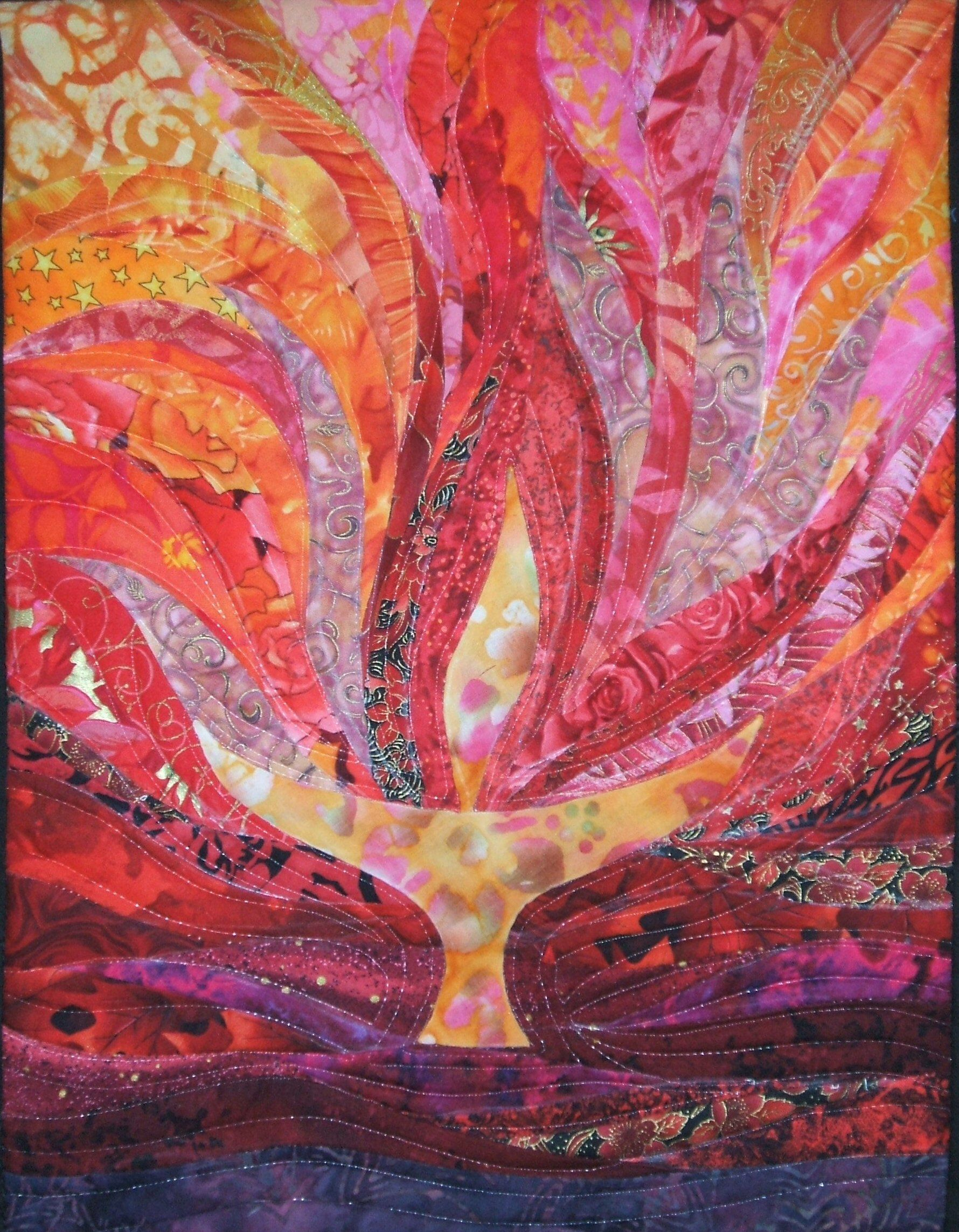 acryllic paint on canvas uu chalice print ; purple green yellow mardi gras colors poster prints or original unitarian universalist art