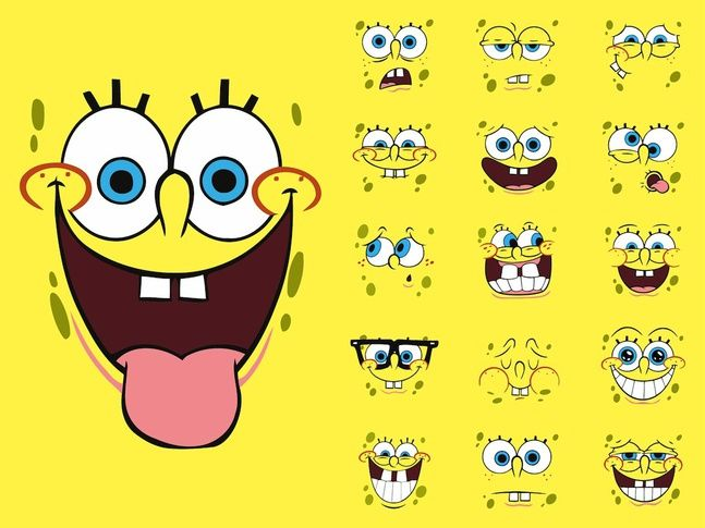 These are only some of SpongeBobu0027s ridiculous faces! SpongeBob - best of spongebob invitation vector