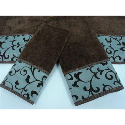 Dark Brown And Teal Bathroom Towels Decorative Towels Blocks