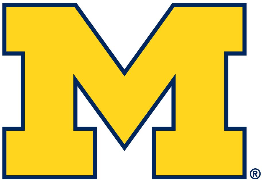 Michigan Wolverines Primary Logo 2012 Pres Michigan Wolverines Michigan Wolverines