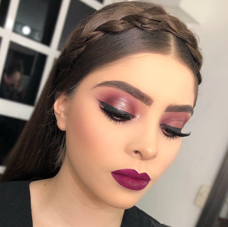 Wedding Makeup Look Wine Lipstick Color Reddish Brown