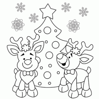 Reindeer Coloring Page - Free Christmas Recipes, Coloring Pages for ...