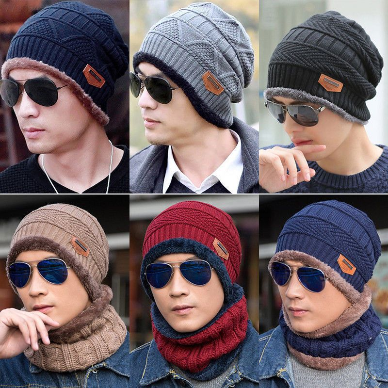 2c82f34eb0a35 EA34 Men Women Crochet Knit Plicate Baggy Beanie Wool Hat Winter Warm Cap   fashion  clothing  shoes  accessories  mensaccessories  hats (ebay link)