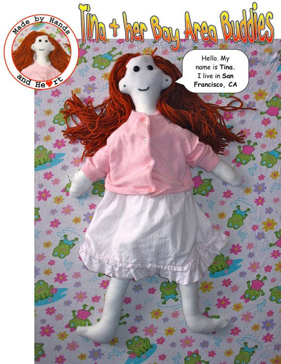 Tina and Her Bay Area Buddies Tina doll by rabbitstudios on Etsy, $40.00