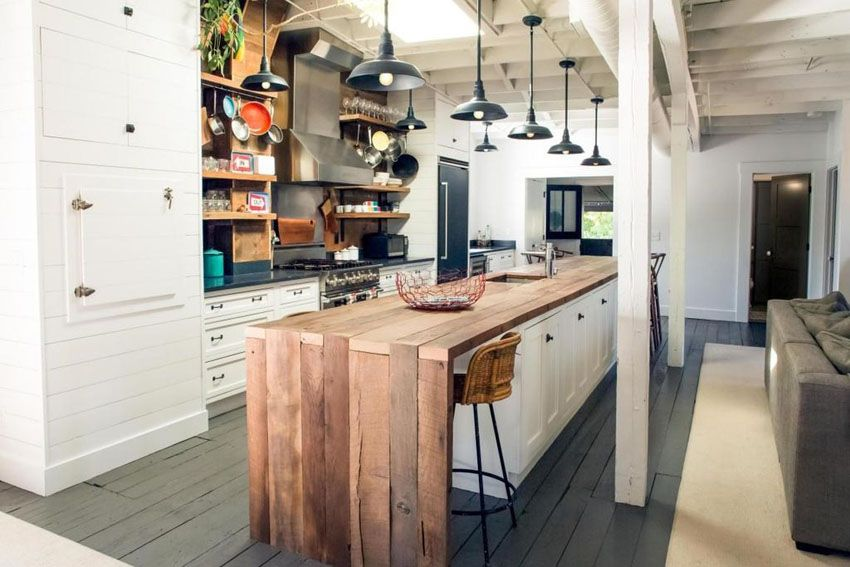 25 Reclaimed Wood Kitchen Islands Pictures Kitchen Island