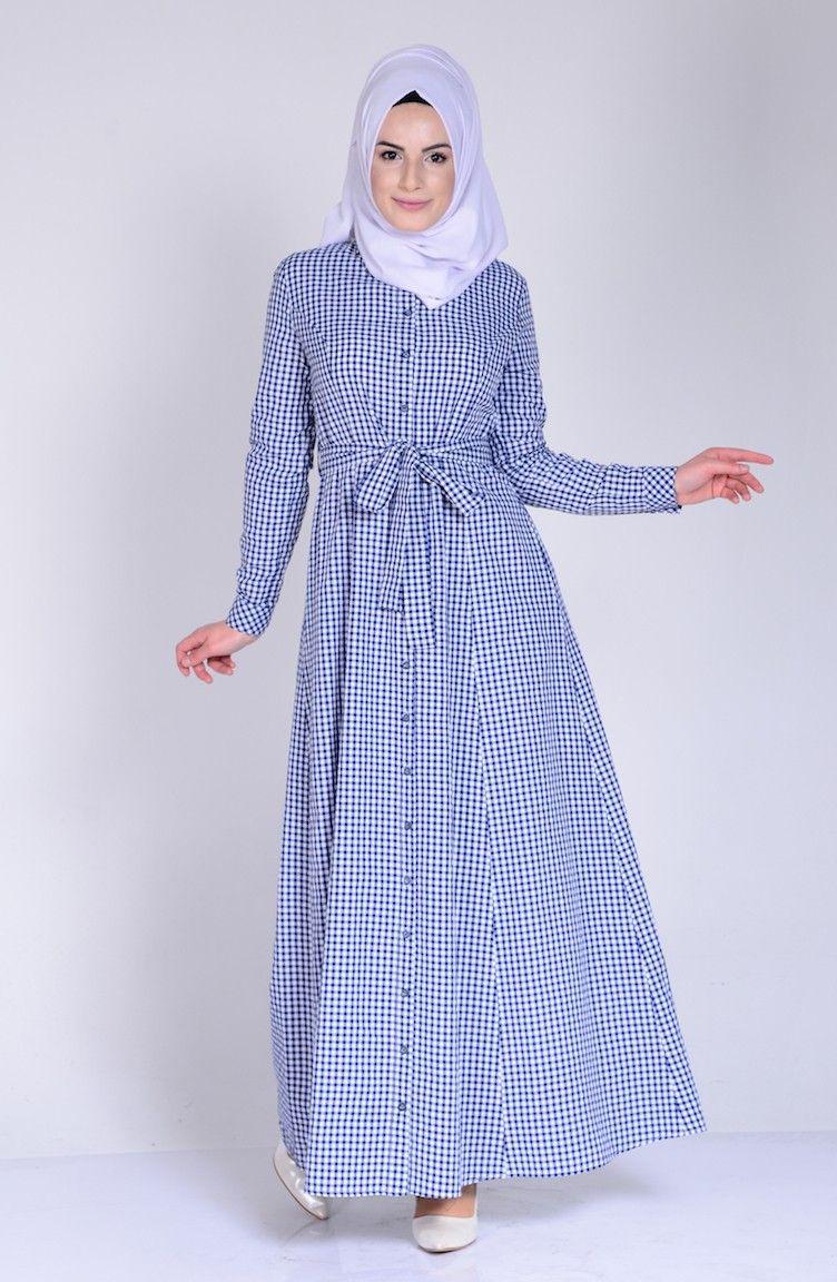 Sefamerve Tesettur Ekose Gomlek Elbise Modelleri Moda Tesettur Giyim Elbise Modelleri Gomlek Elbise Elbise