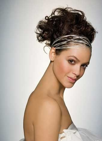 funky bridal hairstyle for short hair  wedding hair