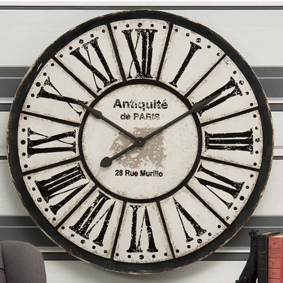 Giftcraft Large Cream Black Antiquite De Paris Clock Clock Cool Clocks Huge Wall Clock