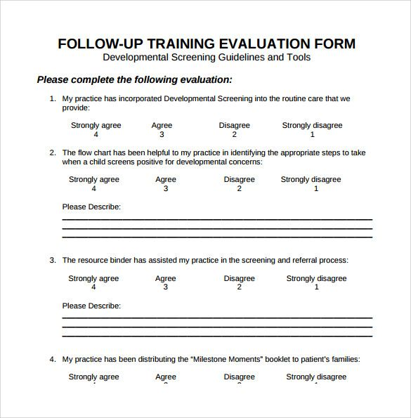 training evaluation form download free documents word pdf feedback - evaluation template