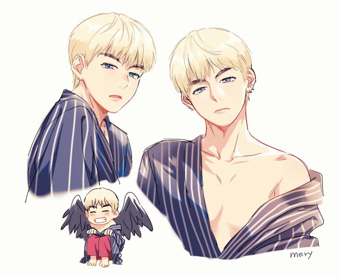 Tae Blood sweat and tears Bts desenho, Fanart bts