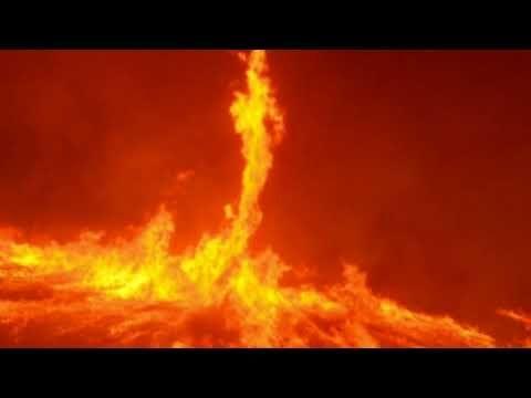 holy fire pillar of fire huge fire tornadoes rages across california