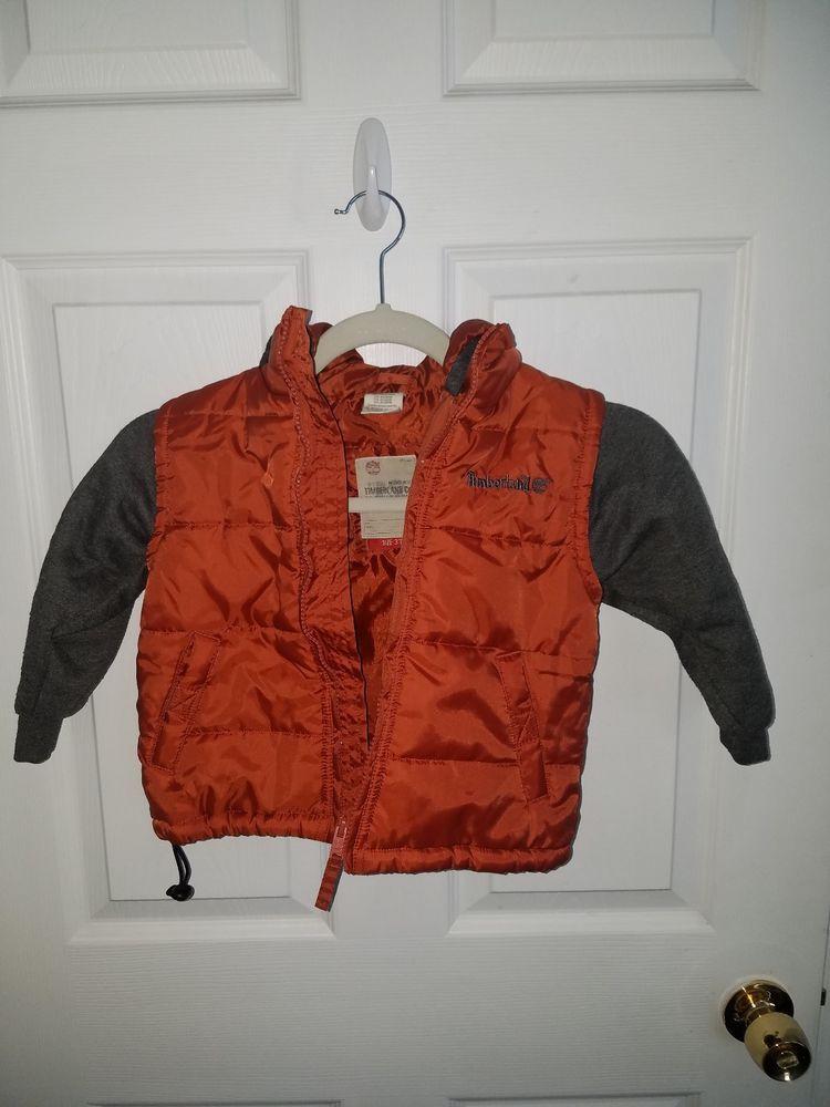 8fa9aca2f8 Boys Timberland Winter Jacket Hood vest Size 3T orange and grey 100%  polyester #fashion #clothing #shoes #accessories #babytoddlerclothing ...