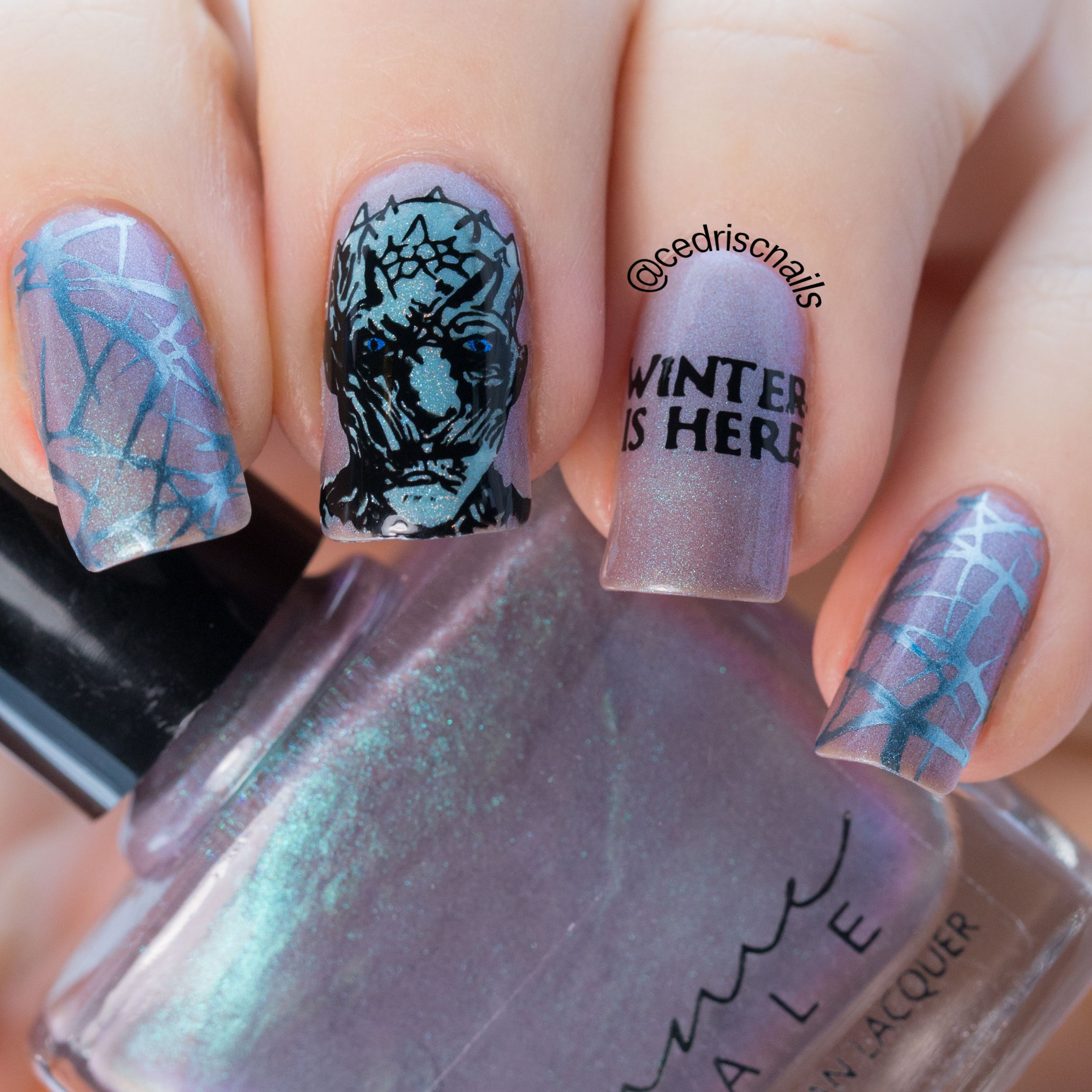 Beautiful Game Of Thrones Nail Art Festooning - Nail Art Ideas ...