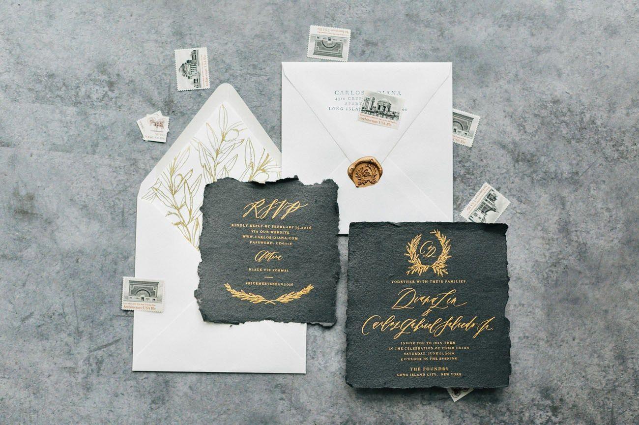 vintage torn invitation rusticweddinginvitationssimple wedding