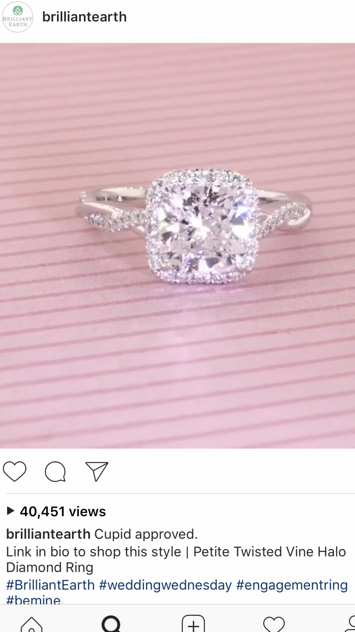 Beautiful twisted vine cushion cut halo diamond engagement ring ...