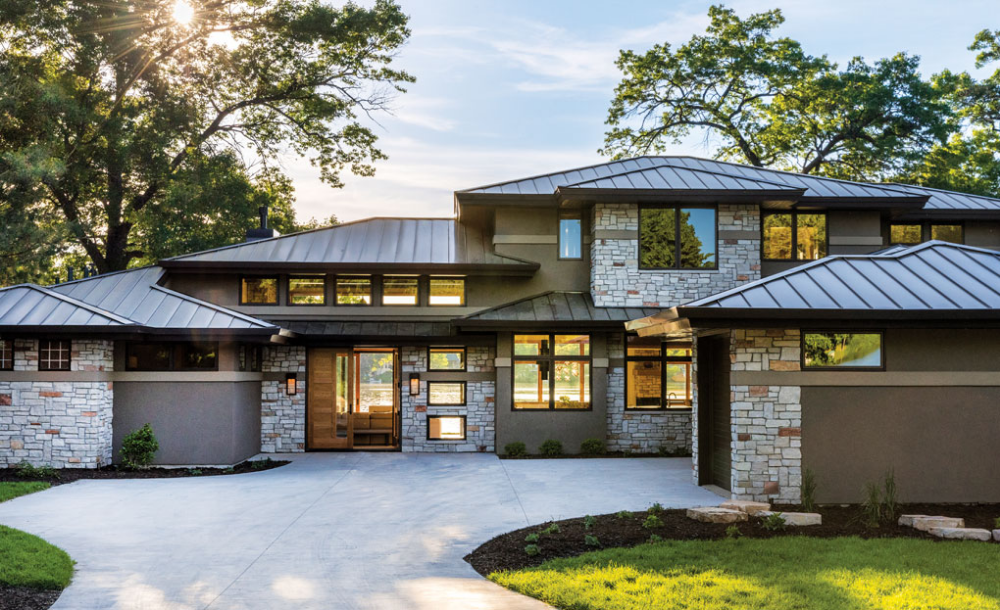A Prairie Style Home By Bruce Lenzen Design Build Midwest Home Prairie Style Houses Modern Prairie Home Prarie Style Homes