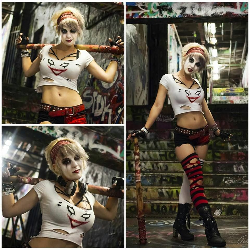 Character insurgency harley quinn dr harleen quinzel from interactive entertainments injustice gods among us video game cosplayer gabriela tacchi aka bad luck kitty aka black cat voltagebd Gallery