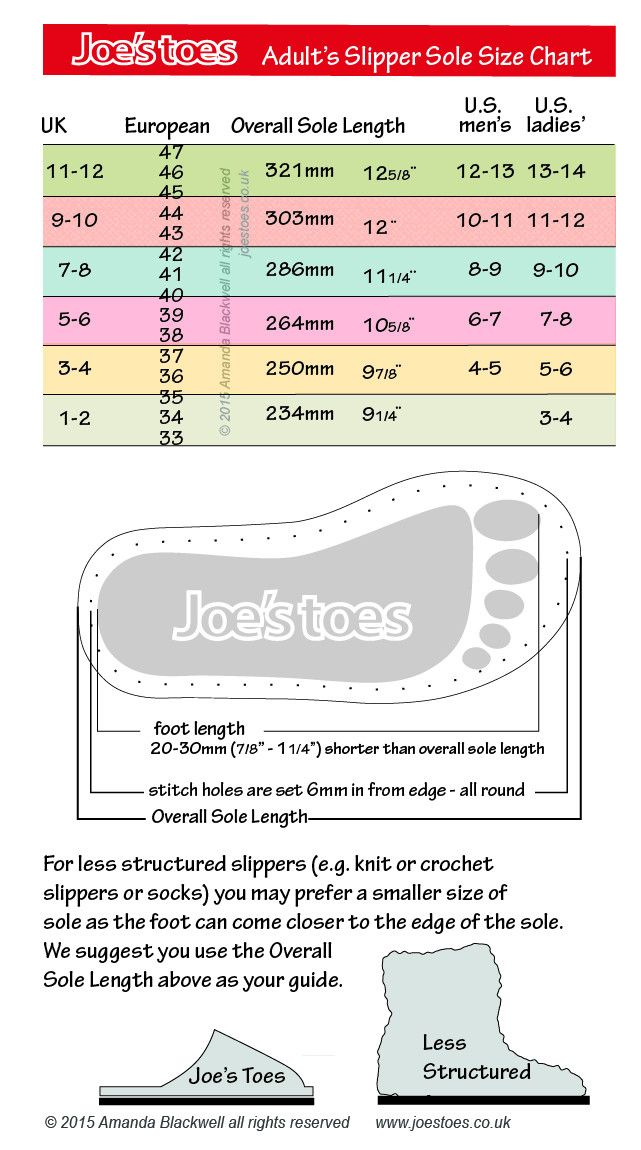 Joe S Toes Faqs And Size Chart Felted Slippers Slipper Kits Slippers