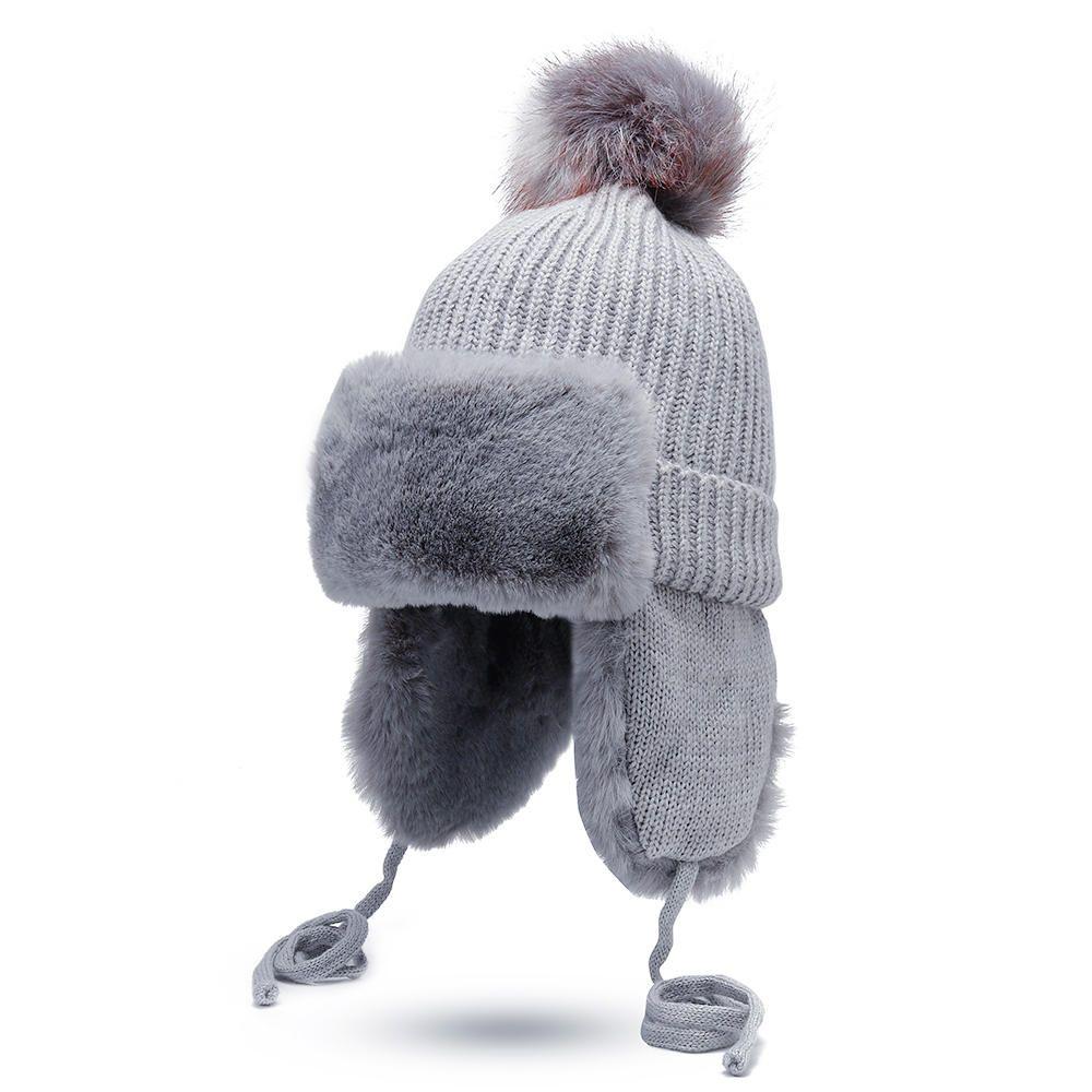 Women Earmuffs Plus Velvet Knit Trapper Hat Ski Hat at Banggood ... a9684837b659