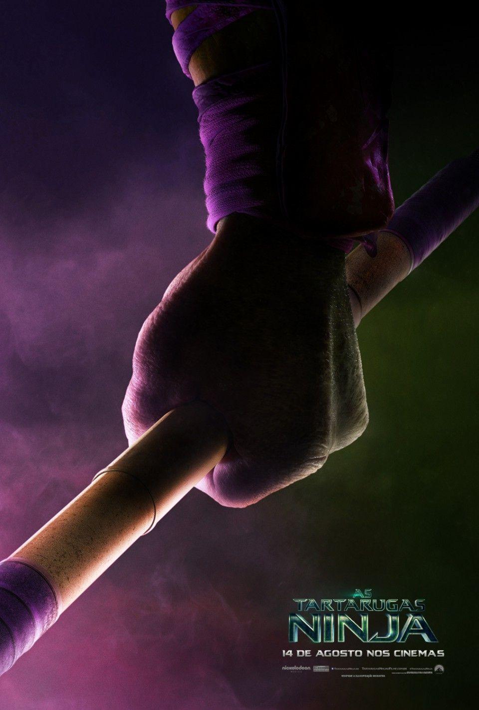 Armas em punho nos novos teaser-pôsteres de As Tartarugas Ninja!