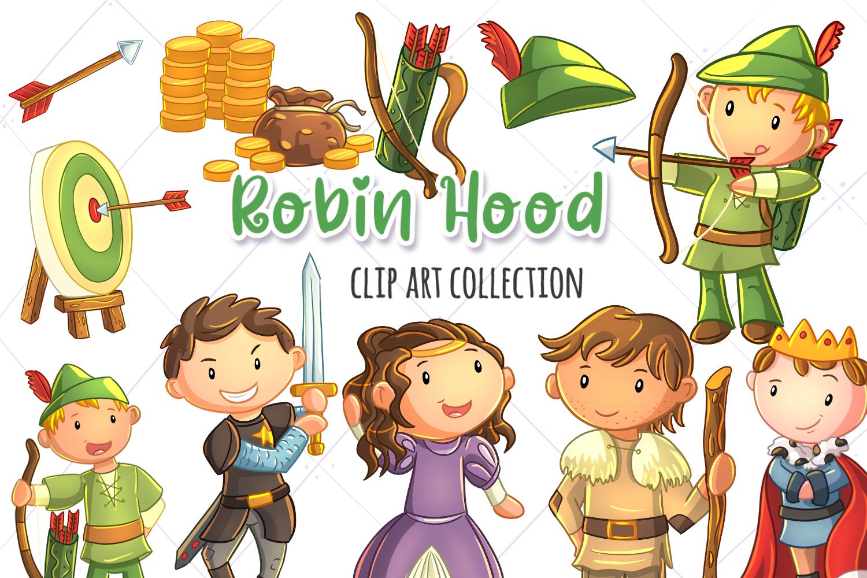 Robin Hood Clip Art Collection Graphic By Keepinitkawaiidesign Creative Fabrica