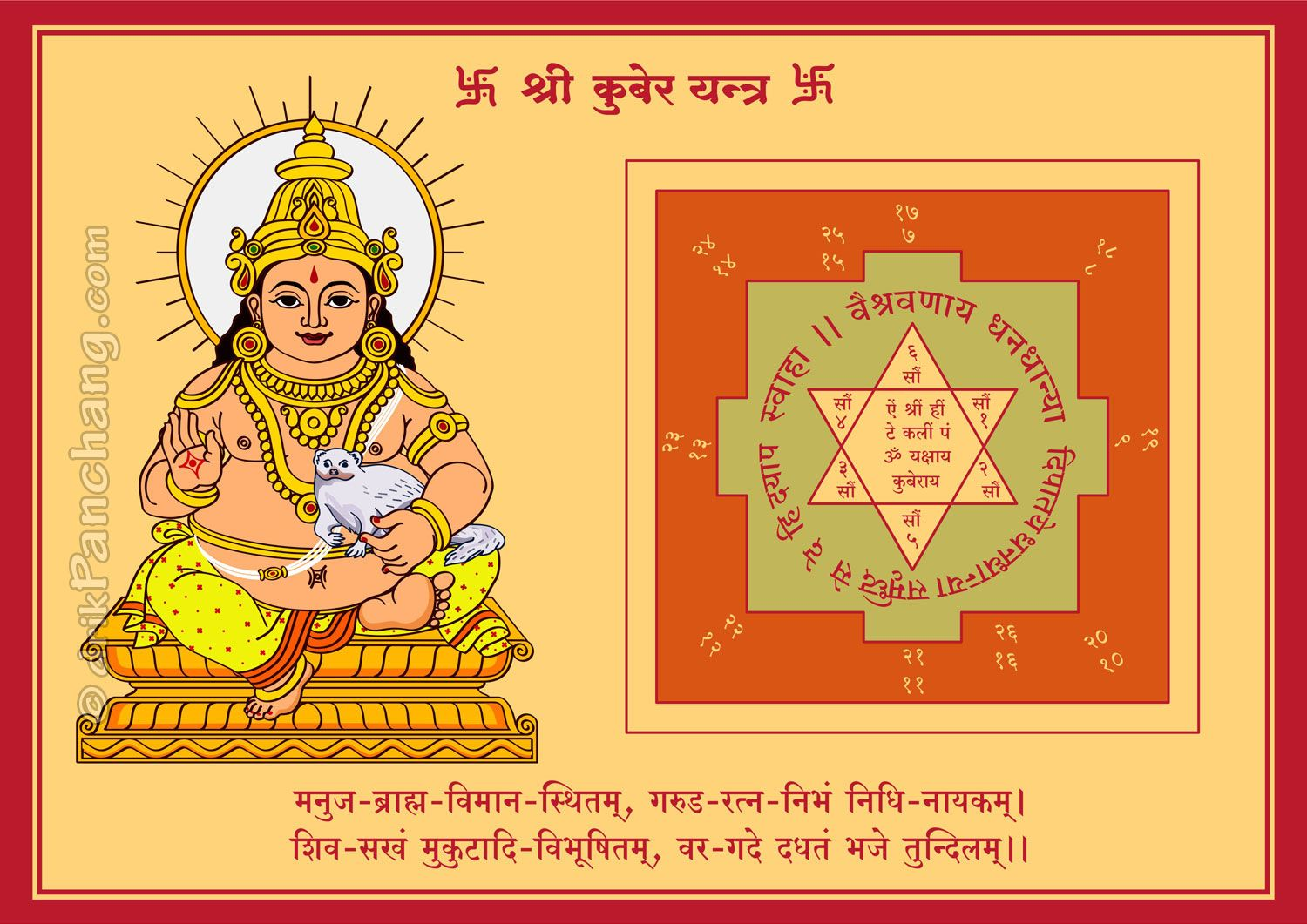 Right Click to Save Lord Kubera Yantra | lndia in 2019