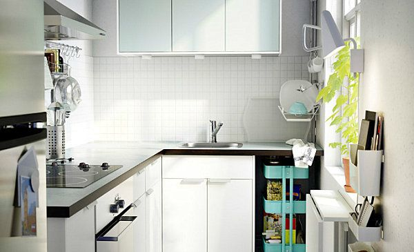 Captivating Scandinavian Kitchen Design Ideas: Crisp White Scandinavian Kitchen With Colorful Accents ~ Manningmarable