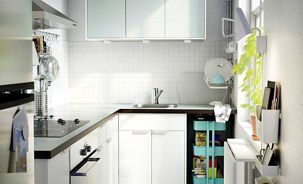 Captivating Scandinavian Kitchen Design Ideas: Crisp White Scandinavian Kitchen With Colorful Accents ~ Manningmarable