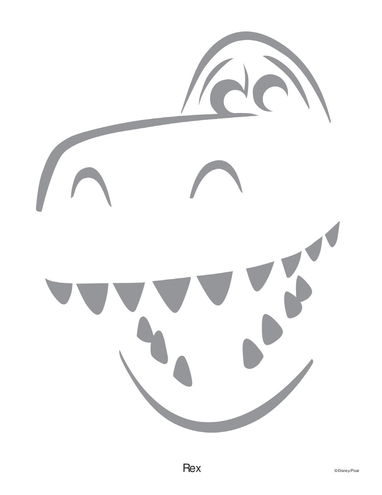 Rex Toy Story Pumpkin Stencil In