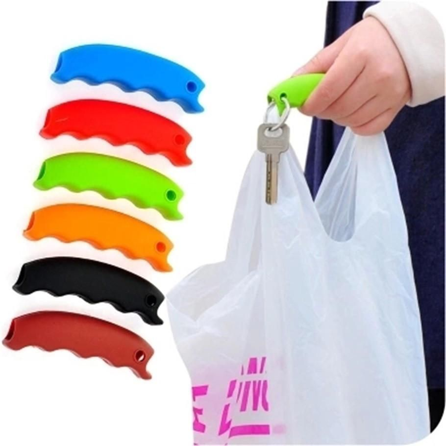 High Quality Silicon Shopping Bag Carrier Candy Cute Color Grocery Holder Novelty Household Portable Comfortable Bag Holder New Varieties Are Introduced One After Another Kitchen Storage & Organization Bag Clips