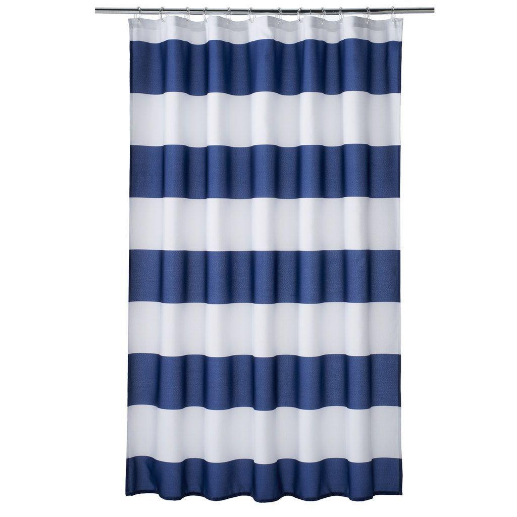 Home Classics Porter Navy Stripe Shower Curtain Blue 70 X72