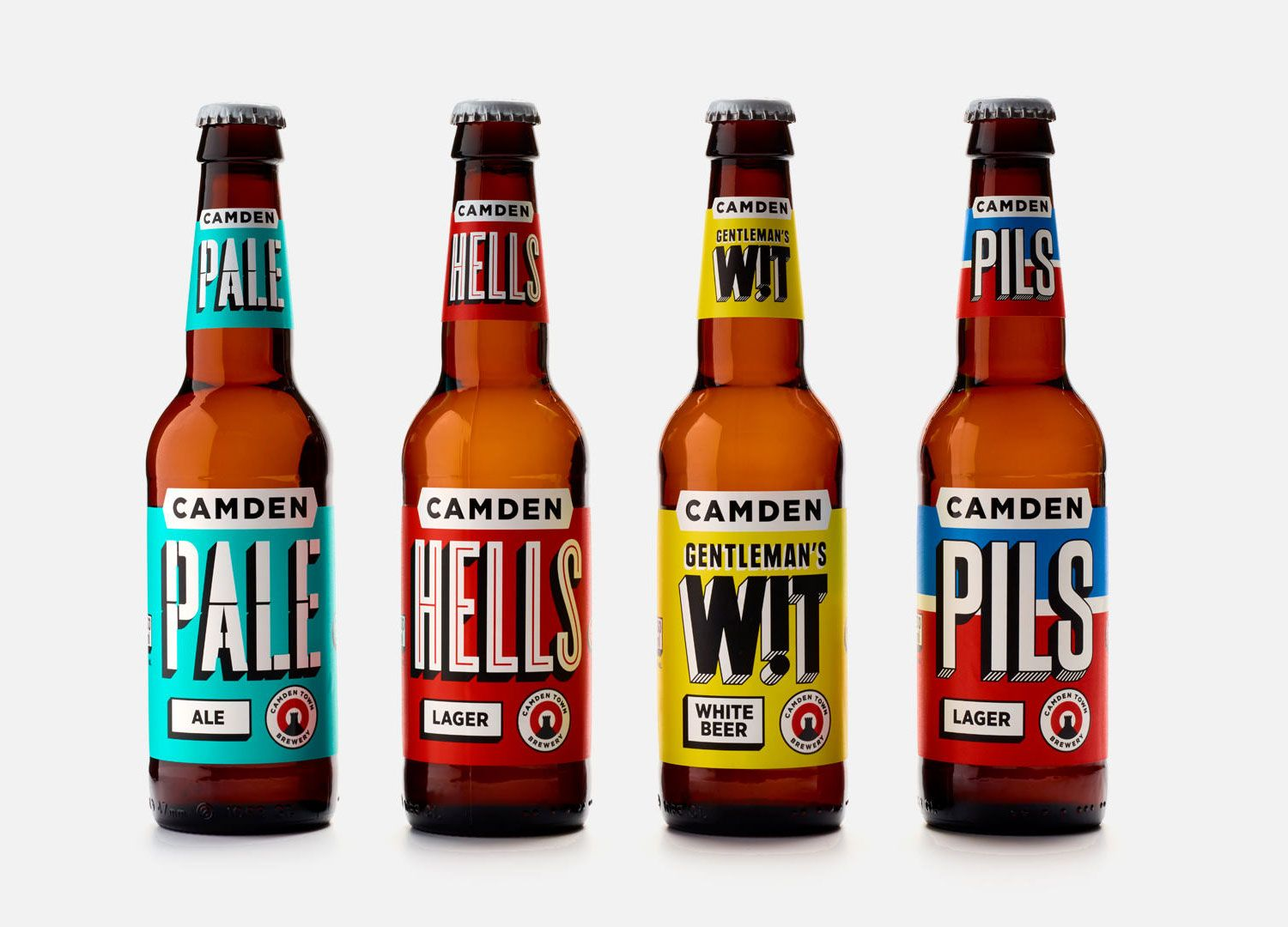 Camden Town Brewery Craft Beer Labels Beer Label Design Beer Bottle Design