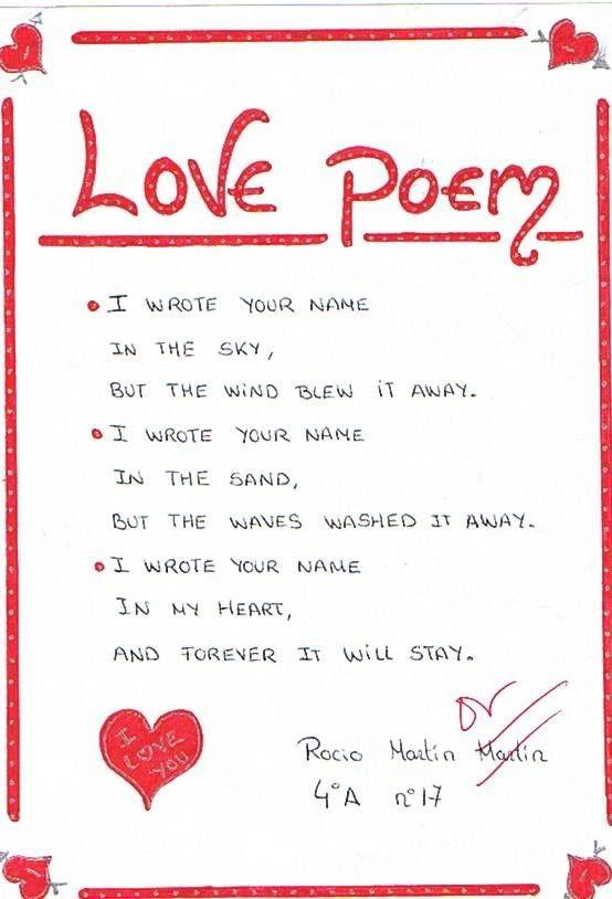 Short romantic love poems for him